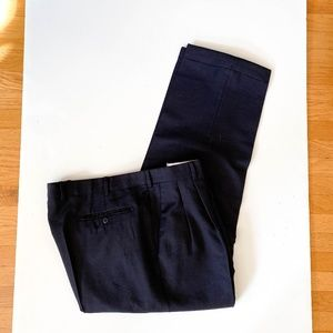 ZANELLA Bennett Navy Blue Pleated Dress Pant Sz 40